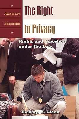 The Right to Privacy, by Richard A. Glenn. Hardcover, Auraria Library copy, atop a stack of five or six more library books. Northbound D Line. Wednesday morning commute.