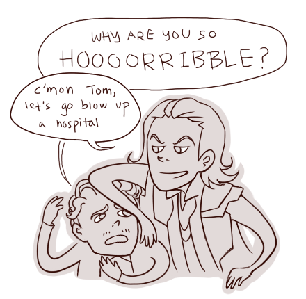 offishwhite:  just cuz Tom and Loki's personalities are so different