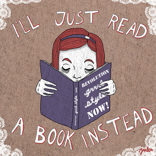 teachingliteracy:  i'll just read a book instead (by ieatcake)