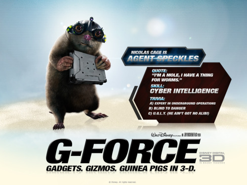 G-Force [2009] It's the mole he was born to play!