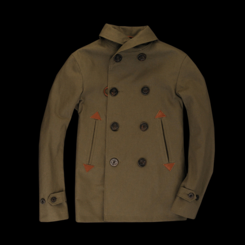 evolutionofagentleman:  Golden Bear shawl collar military jacket. That collar is tough!