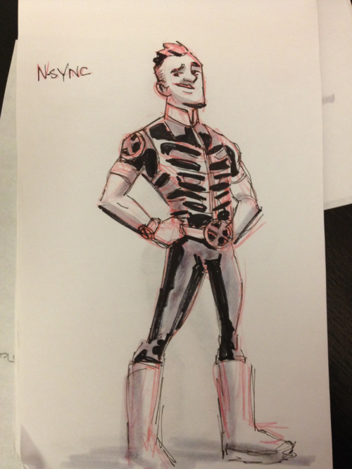 Geek drawings- Sync, the team D-bag.