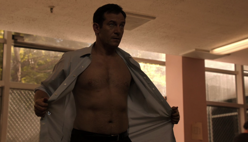 alchemine:  Yes, Detective Britten, feel free to remove your shirt at any time.
