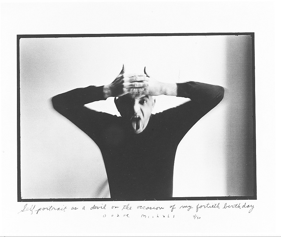 Duane Michals, Self-portrait as a Devil on the Occasion of My Fortieth Birthday, 1972