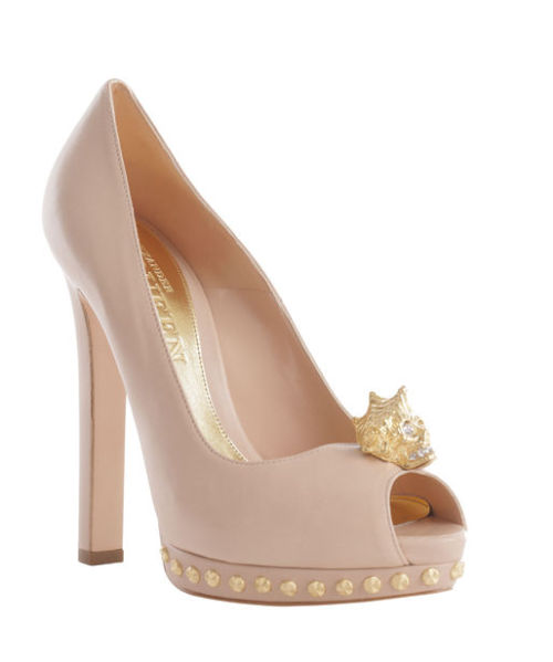 Alexander McQueen Flesh Shell Peep-Toe Pump