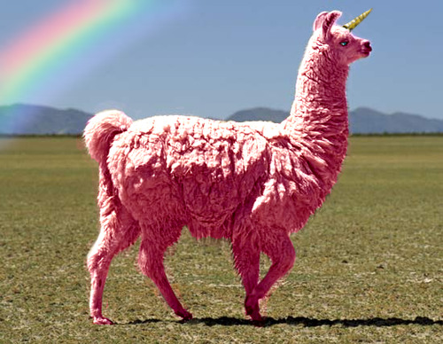 Pink llama-unicorn. Because you deserve it.