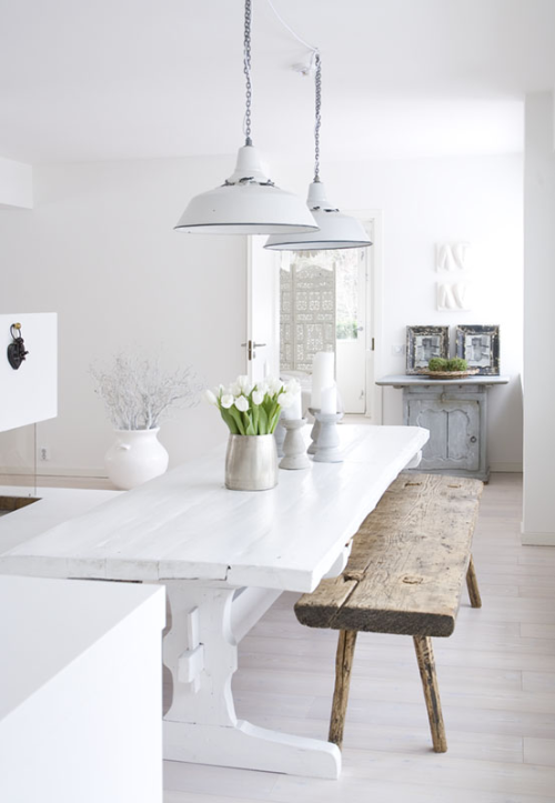heartbeatoz:  (via 79 Ideas) I love the all white in Scandinavian Houses but imagine it would be a pain to keep clean.