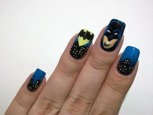 beautylish:  Check out these Batman nails from Beautylish Beauty Tereska H.!  Batman