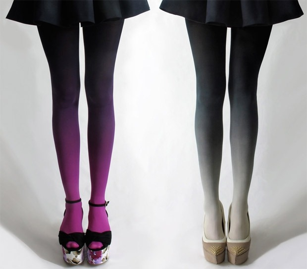 couturecourier:  Ombré tights!!! Love this so much!!