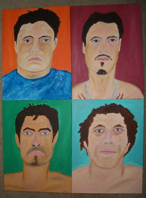 "from my Mexican Surfers series. each piece is 12"" by 16"", acrylic on canvas board."
