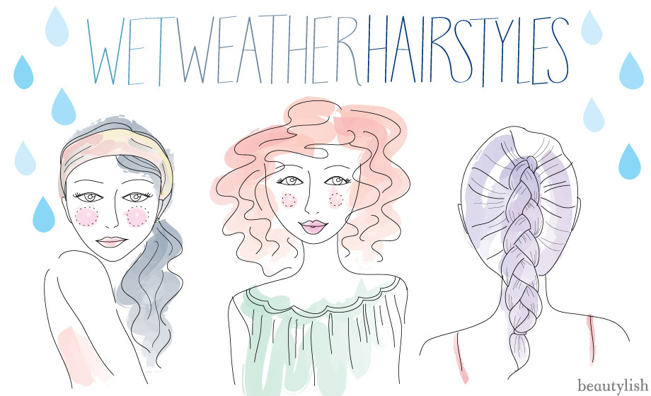 These are some nice ideas for those April showers! (via Wet-Weather Hairstyles)