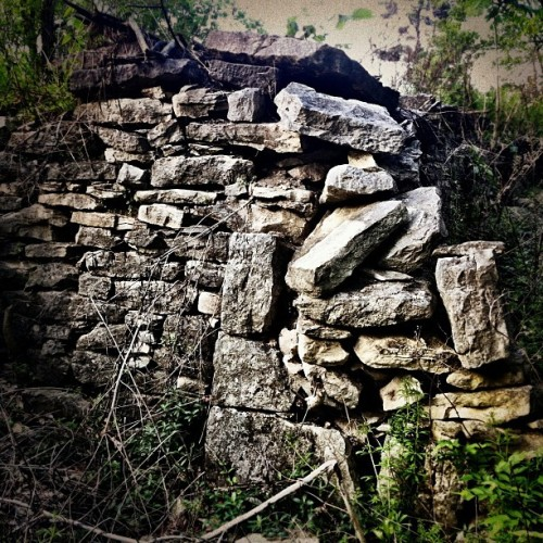 Spring's Overtaking #stonewall #stone #wall (Taken with instagram)