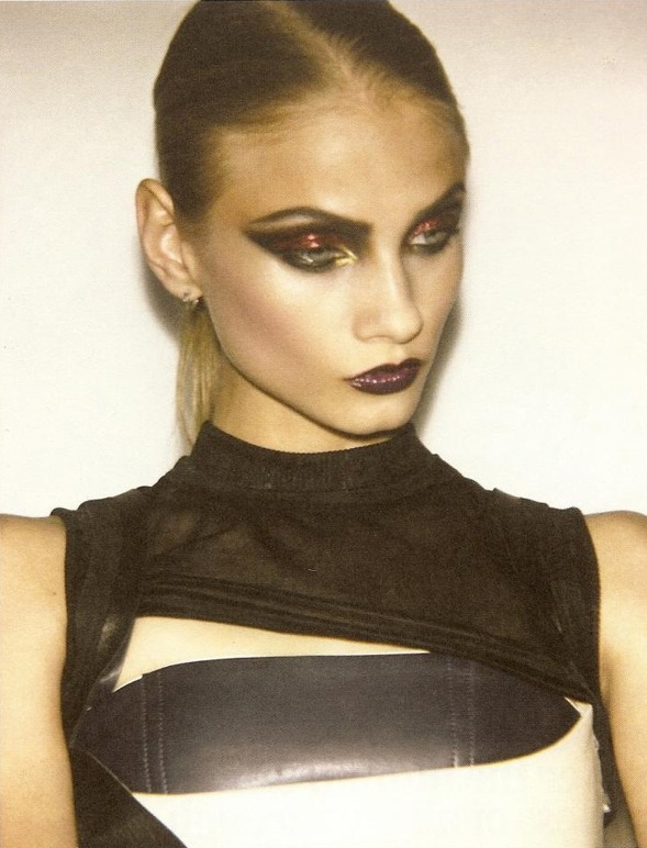 Ohh, the makeup. (via anna selezneva and malgosia bela by ezra petronio for self service s/s 2010 : Mode and the Like)