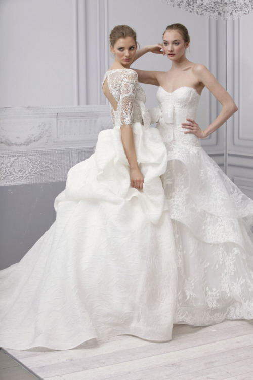 Monique Lhuillier Spring 2013 Bridal Collection (via Belle the Magazine)