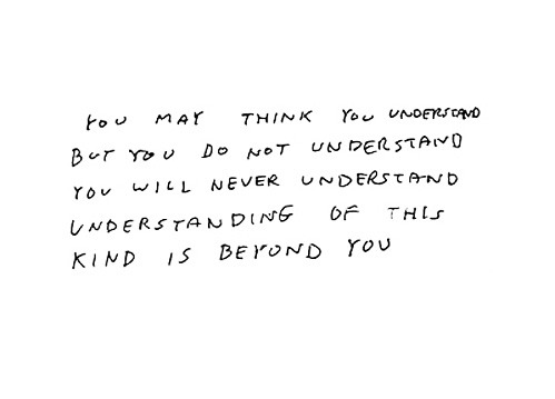 nevver:  You think you understand