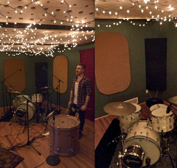 STUDIO DAY 1: Joey returns to play drums for the EP, and a 1967 Ludwig drum kit arrives in a time machine with a note from Wyld Stallyns.