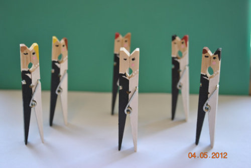 Haha! Wedding pegs, very quirky