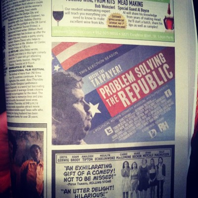 kevinhorn:  @PSR_Film in City Pages Best of the Twin Cities (Taken with instagram)