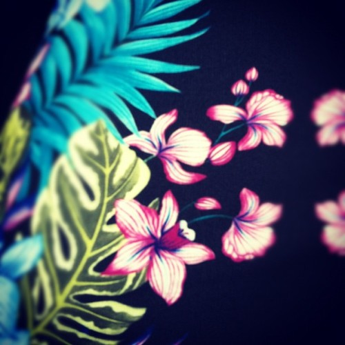 A bright tropical print to cheer up this grey day! (Taken with instagram)