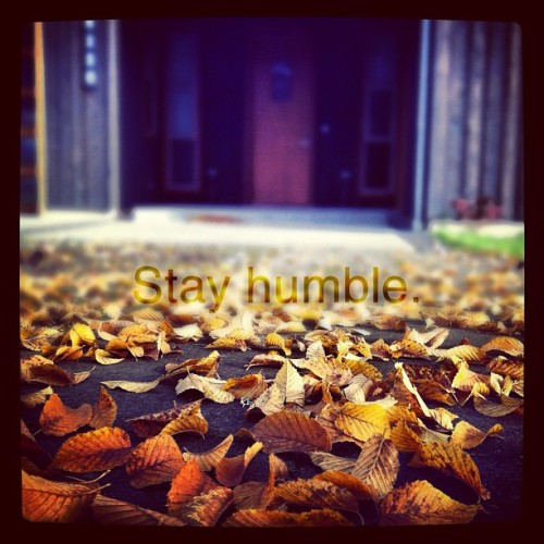 #iphoneography #stayhumble #leaves #fall #oldphoto #instagram  (Taken with instagram)