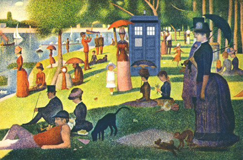 Sunday in the park with The Doctor becks28nz:  Tardis Seurat (via @stinglacson)