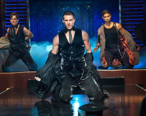 totalfilm:  First trailer and poster for Magic Mike Magic Mike, Steven Soderbergh's look at the world of male strippers, has released a first trailer, with Channing Tatum, Alex Pettyfer and Matthew McConaughey disrobing for the entertainment of a crowd of baying women.  This movie looks terrible, but I just want to watch it on mute. I mean, come on. So many. So so many half naked men.