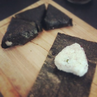 I'm making my first onigiri for my Louisiana trip today! (Taken with Instagram at Meinungsgade)