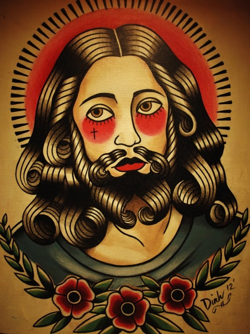 "flash-art-by-quyen-dinh:  Christ by Quyen Dinh 14""x18""- $200 (Sold)"
