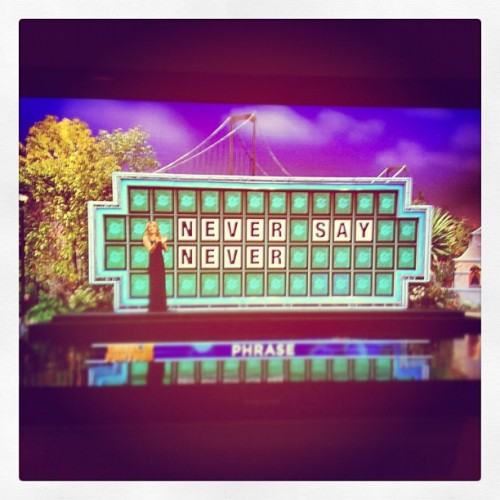 "@jonmchu: ""Hey @justinbieber guess what the phrase is on Wheel of Fortune?!!!"""