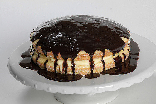 thenommables:  Boston Cream Pie by Shirley J (by Shirley J - Cooking Made Easy Since 1978)