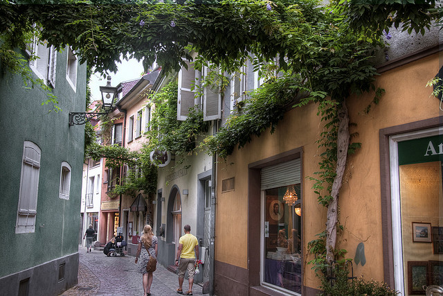| ♕ |  Backstreet alley of Freiburg - Germany  | by © Werner Kunz