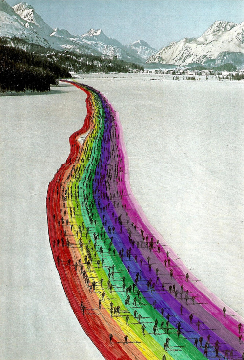Rainbow Skiers by Rainbowmermaid