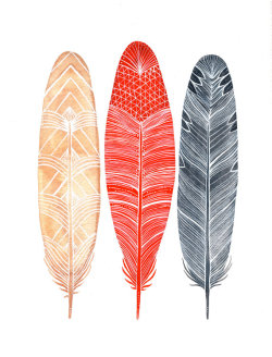 aplaceforart:  (via Watercolor Feather Painting Feathers Art Archival by RiverLuna)