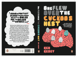 "My book cover for ""One Flew Over The Cuckoo's Nest"" which I submitted for the Penguin competition 2012"