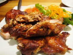 the-fooshion:  BBQ chicken & Crispy chicken at It's time for Thai. yumsss