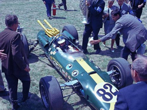 Jim Clark at the 1965 Indy 500
