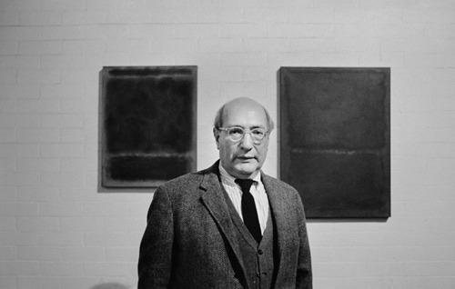 Mark Rothko, photographed by Sedat Pakay in Rothko's NYC studio.   Brill Gallery
