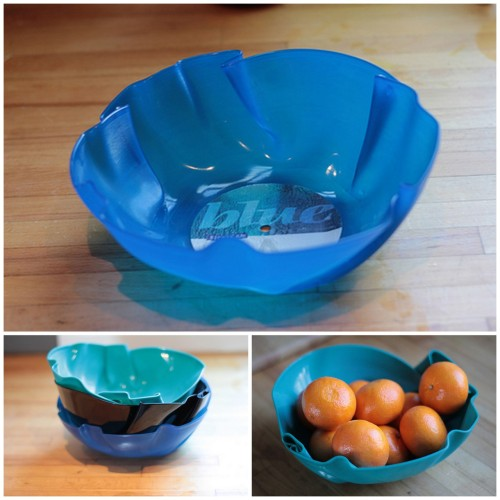 DIY Scratched Vinyl Record to Unique Bowl. This tutorial is different than the others I've posted because boiling water is used instead of heating up the record in an oven. Detailed step-by-step tutorial from Skulls and Ponies here. *To see the oven method for shaping vinyl records, go to my post on the DIY Vinyl Record Notebook by stars for streetlights here. *Also, for more record ideas go here: truebluemeandyou.tumblr.com/tagged/record