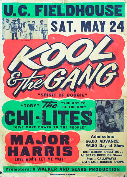 Kool & the Gang concert poster Source: The Doctor's Orders