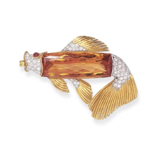 omgthatdress:  Brooch Tiffany & Co. Christie's