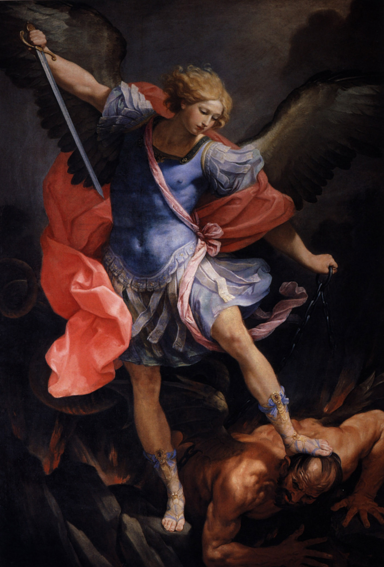 Guido Reni - The Archangel Michael, 1636. Oil on canvas
