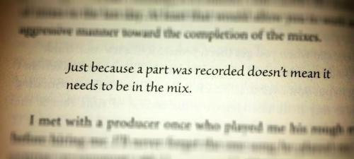 "The Golden Rule of Mixing by Mixerman. His book ""Zen and the art of Mastering"" is a fantastic read. If you are a musician or a recording artist, you must read this!"