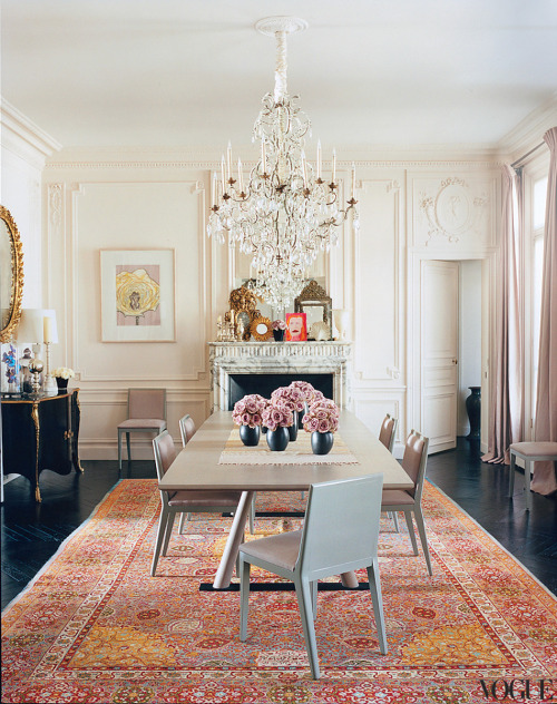 vintageluxe:   home: l'wren scott + mick jagger  source: voque