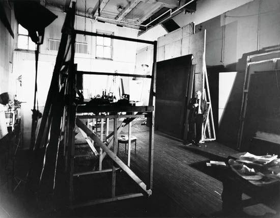 Mark Rothko in his studio, photo by Herbert Matter
