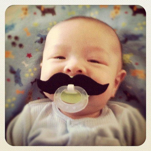 And prize for the best dummy/pacifier goes to this guy. How AWESOME