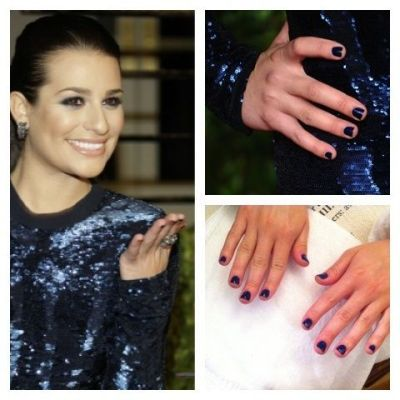 "Lea Michele wears Nars Nail Polish in ""Midnight Express"""