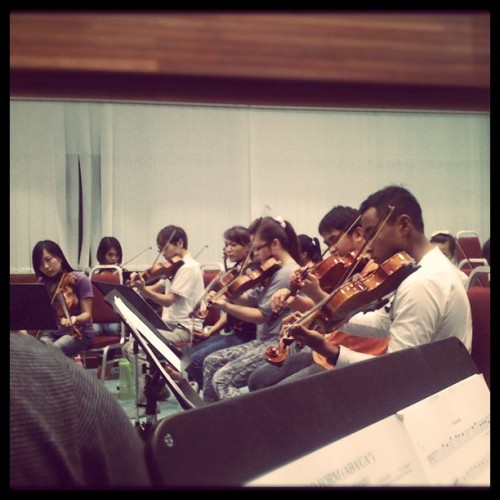 Strings section…#ciptaconcert #practice #music  (Taken with instagram)