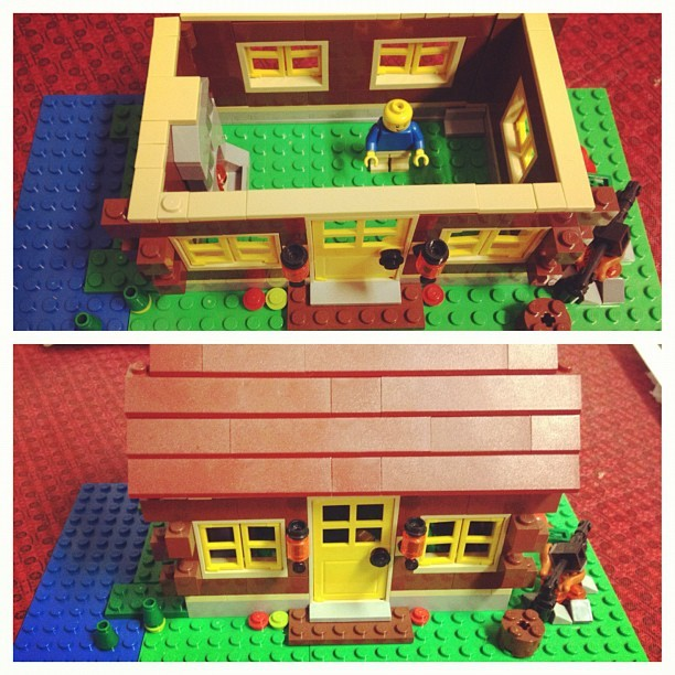 My little brother made this…. He loves Legos (Taken with instagram)