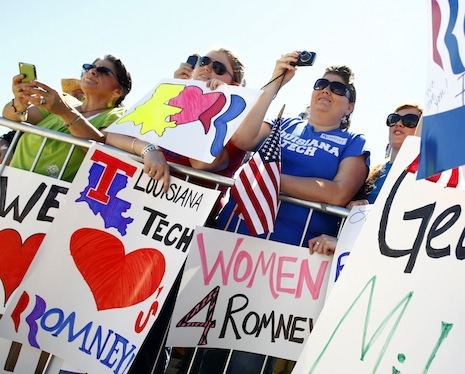 "Daily Comment  Earlier this month, Mitt Romney started wooing women voters with talk of jobs, not birth control and abortion. He's onto something. The ""war on women"" rhetoric was starting to strain credulity a little. While the Republican-led attacks on contraception funding and access to abortion certainly amount to a rollback in reproductive rights, ""war on women"" is overheated: what we've been seeing is more than the ""kerfuffle"" Republican strategists want to demote it to, but less than what some Democrats have made it out to be. Besides, it's true that women do not vote like ""some monolithic bloc,"" as President Obama said at a recent press event, and that they don't necessarily like to be told that they should. Opinion on social issues doesn't shake out neatly along gender lines. Indeed, on abortion, there is virtually no gender divide: fifty-two per cent of women and fifty per cent of men think it should be legal in all or most circumstances; forty-two per cent of women and forty-four per cent of men think it should be illegal. (Gay marriage is another matter: fifty-three per cent of women support it, compared to forty per cent of men.) As a commenter on a conservative Christian blog noted recently, complaining about a map of the best states for women that used access to abortion as one of the criteria, ""No thought was given to the fact that many women are not for and would not want easy access to abortion."" Education level turns out to be a more reliable predictor of attitude on abortion than gender, with college-educated Americans the most likely to say it should be legal in most cases.  - In today's Daily Comment, Margaret Talbot writes about closing the gender gap: http://nyr.kr/IAQSrj"