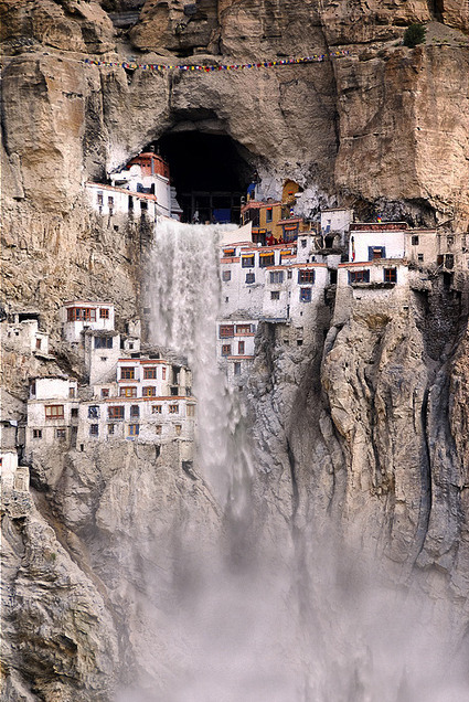Phuktal Monastery During Monsoon Season via: realitycues.com